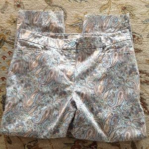 Talbots Paisley Pants